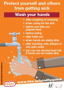 Hand hygiene poster